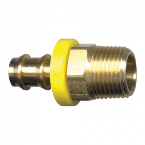 Picture of 5/8 ID x 1/2 MPT Brass Grip-Tite Fitting