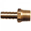 Picture of 1/4 ID x 1/4 MPT Brass Hose Barb Fitting