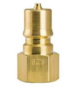 "Picture of Foster FHK 1/4"" Brass Two Way Shut-Off Coupler Plug, 2700 PSI"