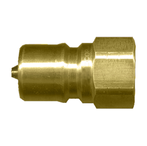 Picture of 1/2 Nipple x 1/2 FPT ISO B 7241-1 Brass 3,500 PSI Quick Disconnect
