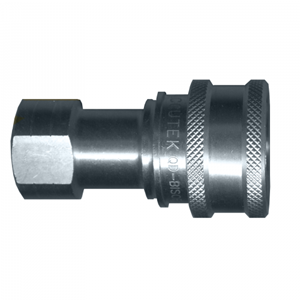 Picture of 1/4 Coupler x 1/4 Female Pipe ISO B 7241-1 Steel 5,000 PSI Quick Disconnect