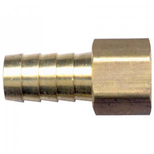 Picture of 3/8 ID x 1/4 Female Pipe Brass Hose Barb Fitting