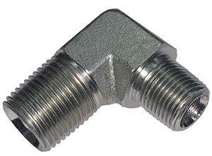 Picture of 1/2 Male Pipe x 3/8 Male Pipe 90° Elbow Steel