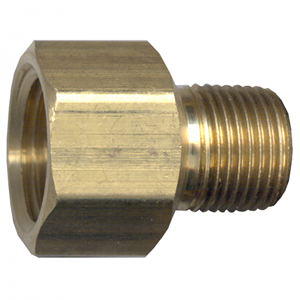 Picture of 1/2 FPT x 1/4 MPT Brass Adapter