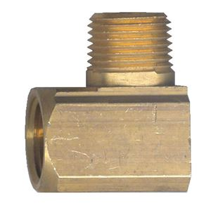 Picture of 1/4 FPT x 1/8 MPT Extruded Brass 90° Street Elbow