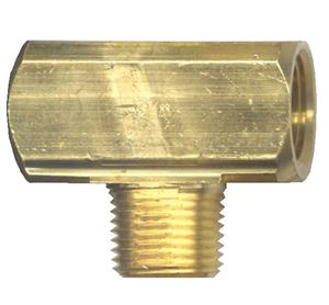 Picture of 1/4 FPT x 1/4 MPT Extruded Brass Male Branch Tee