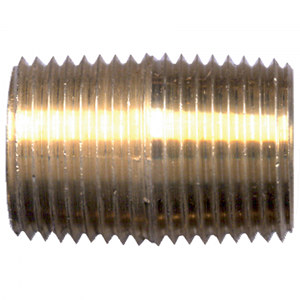 Picture of 1/4 MPT Brass Close Nipple