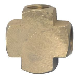 Picture of 1/4 FPT Extruded Brass Cross