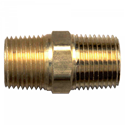 Picture of 1/4 MPT Brass Hex Nipple