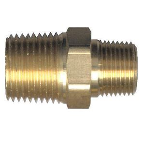 Picture of 1/4 MPT x 1/8 MPT Brass Hex Nipple