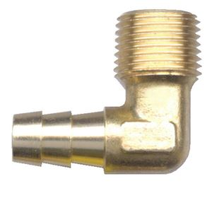 Picture of 1/2 ID x 1/4 MPT Brass 90° Elbow Hose Barb Fitting
