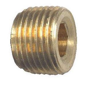 Picture of 1/4 MPT Brass Plug Hex Countersunk