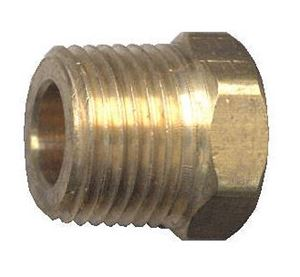 Picture of 1/4 MPT Brass Plug Hex Head Cored