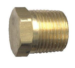 Picture of 1/4 MPT Brass Plug Hex Head Solid