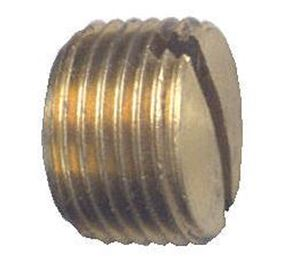 Picture of 1/4 MPT Brass Plug Slotted