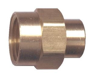 Picture of 3/8 FPT x 1/4 FPT Brass Reducing Coupling
