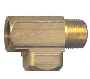Picture of 1/4 FPT x 1/4 MPT x 1/4 FPT Extruded Brass Street Tee