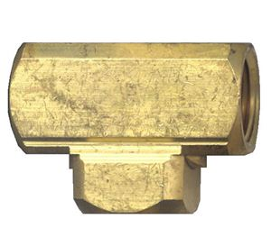 Picture of 1/4 FPT Extruded Brass Tee