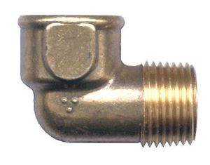 Picture of 3/8 FPT x 1/4 MPT Forged Brass 90° Street Elbow