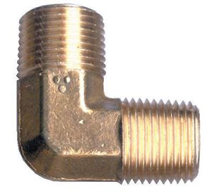 Picture of 1/4 MPT Forged Brass 90° Male Elbow