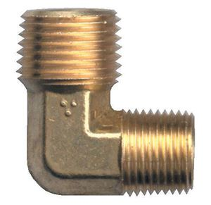 Picture of 3/8 MPT x 1/8 MPT Forged Brass 90° Male Elbow
