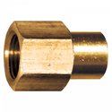 Picture of 3/8 Female Tube x 1/4 FPT Brass Connector