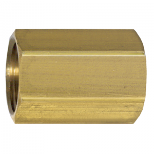 Picture of 3/8 Tube OD Brass Tube Coupling