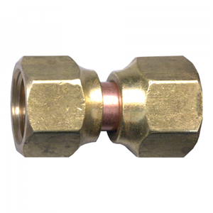Picture of 3/8 Tube OD Brass Tube Coupling Swivel
