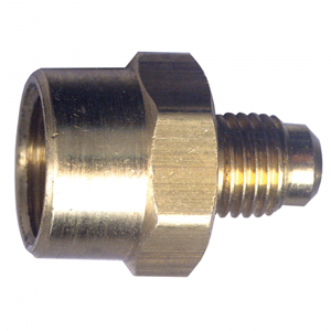 Picture of 1/4 Female Tube OD x 3/8 Tube OD Brass Tube Coupling