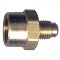 Picture of 1/2 Female Tube OD x 3/8 Tube OD Brass Tube Coupling