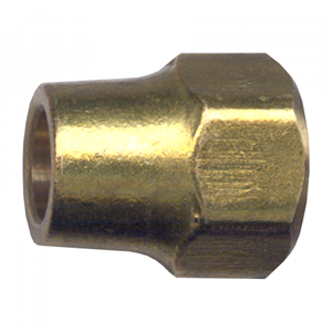 Picture of 3/8 Tube OD Forged Brass Long Nut