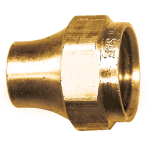 Picture of 3/8 Tube OD Milled Brass Short Nut