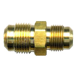 Picture of 3/8 Tube OD TO 1/4 Tube OD Brass Union Reducing Coupling