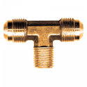Picture of 1/4 Tube OD x 1/8 MPT Brass Male Branch Tee