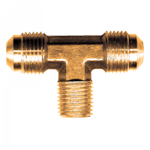 Picture of 1/2 Tube OD x 3/8 Male Pipe Brass Male Branch Tee