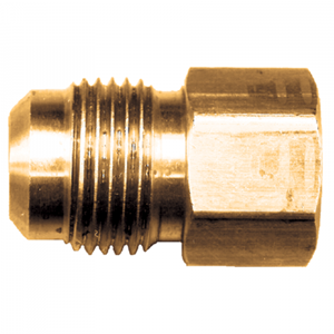 Picture of 1/2 Tube OD x 1/4 FPT Brass Female Pipe Connector