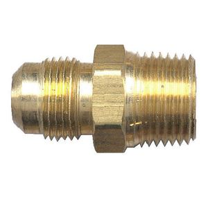 Picture of 1/4 Tube OD x 1/2 MPT Brass Male Pipe Connector