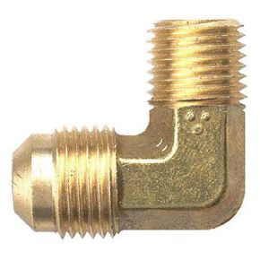 Picture of 1/4 Tube OD x 3/8 MPT Brass 90° Elbow