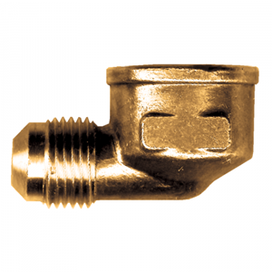 Picture of 3/8 Tube OD x 3/8 FPT Brass 90° Elbow