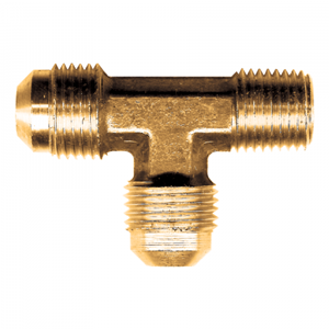 Picture of 3/8 Tube OD x 1/2 MPT Brass Male Run Tee