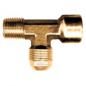 Picture of 1/4 Tube OD x 1/8 Male Pipe Brass Male Female Pipe Run Tee