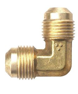 Picture of 5/8 Tube OD x 3/8 Tube OD Brass 90° Union Reducing Elbow