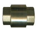"Picture of 1"" Female Pipe Brass Coupling Style Check Valve 250 PSI"