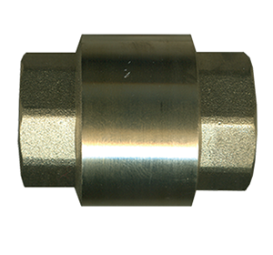 """Picture of 1"""" Female Pipe Brass Coupling Style Check Valve 250 PSI"""