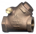 """Picture of 1"""" FPT Brass Swing Check Y Valve 200 WOG 125 WSP"""