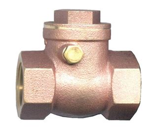 "Picture of 1-1/4"" Female Pipe Brass Swing Check Valve 200 WOG"