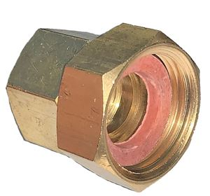 Picture of 1/2 Female NPT x 3/4 Swivel FGH Brass Coupling