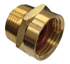 Picture of 1/2 Male NPT x 3/4 FGH Brass Coupling