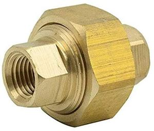 Picture of 1/4 FPT Brass Union Coupling