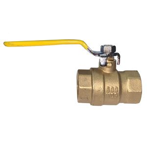 "Picture of 2"" NPTF Forged Brass Ball Valve 600 WOG, Full Port"